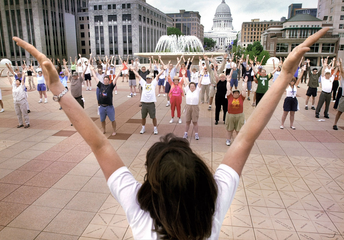 Free Summer Rooftop Tai Chi classes at Monona Terrace, Madison, Wisconsin