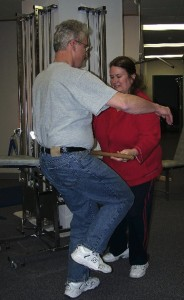 TCF Certified Instructor Diane Martin, DPT teaches patient High Step