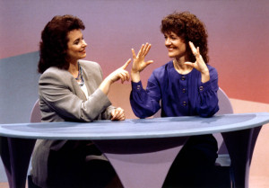 Diane Harlowe and Tricia Yu demonstrate the ROM Dance® hand exercises